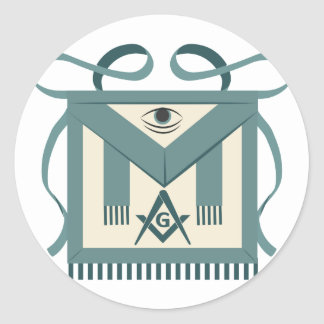 Freemason Apron Round Sticker