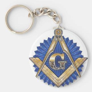 Freemason Basic Round Button Key Ring