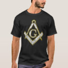Freemason Bling Square Compass Gold/Silver T-Shirt