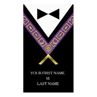 Freemason Business Cards - Masonic Purple & Gold