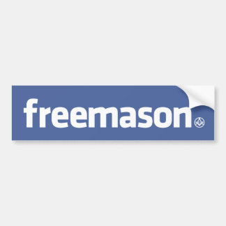 Freemason, Facebook style logo with small S&C Bumper Sticker