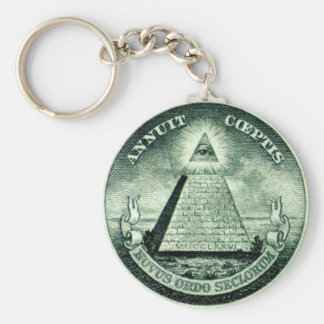 freemason basic round button key ring
