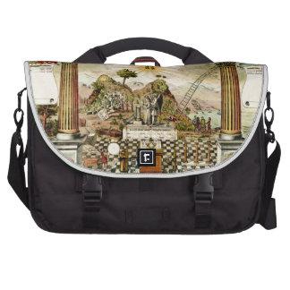 Freemason Masonic Emblematic Chart Commuter Bag