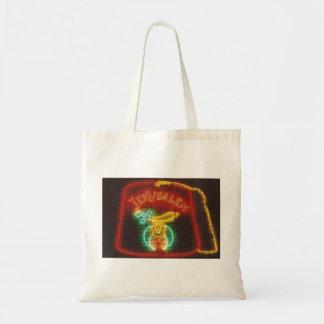 Freemason Neon Sign Tote Bags