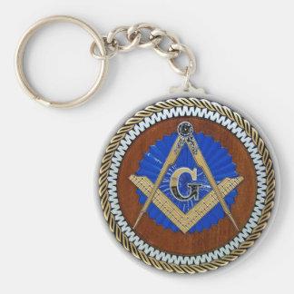 freemason NWO conspiracy square & compass Basic Round Button Key Ring