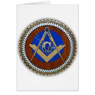 freemason NWO conspiracy square & compass Greeting Card