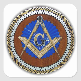 freemason NWO conspiracy square & compass Square Sticker