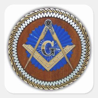 freemason NWO conspiracy square & compass Square Sticker