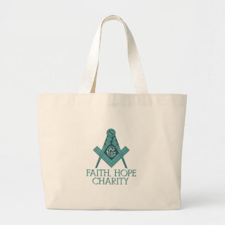 Freemason Square & Compass Faith Hope Charity Jumbo Tote Bag