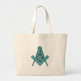 Freemason Square & Compass Jumbo Tote Bag