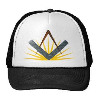 Freemason symbol mesh hat