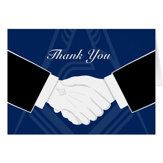 Freemason Thank You Cards | Masonic Handshake Note