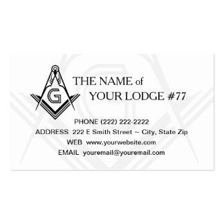 Freemasonry Business Card - Masonic Custom Card