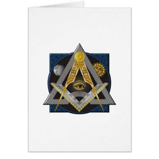 Freemasonry Emblem Card