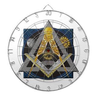 Freemasonry Emblem Dartboard