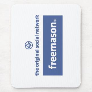 Freemasonry, the original social network. Facebook Mouse Mat