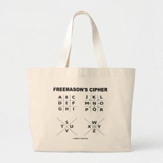 Freemason's Cipher (Cryptography) Jumbo Tote Bag