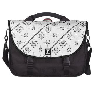 Freemason's Cipher (Cryptography) Laptop Bags