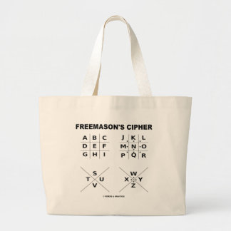 Freemason's Cipher (Cryptography) Large Tote Bag