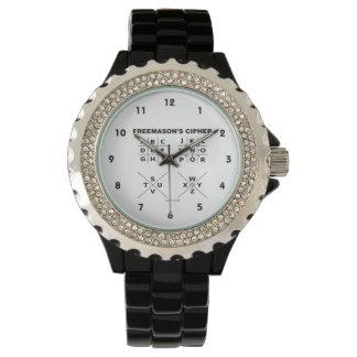 Freemason's Cipher (Cryptography) Wristwatch