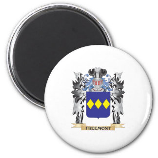 Freemont Coat of Arms - Family Crest 6 Cm Round Magnet