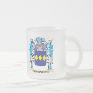Freemont Coat of Arms - Family Crest Frosted Glass Mug
