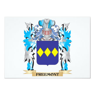 """Freemont Coat of Arms - Family Crest 5"""" X 7"""" Invitation Card"""