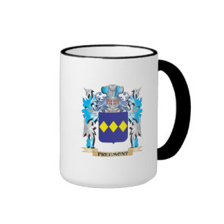 Freemont Coat of Arms - Family Crest Ringer Coffee Mug