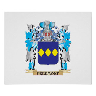 Freemont Coat of Arms - Family Crest Posters
