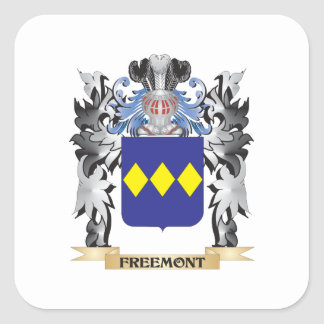 Freemont Coat of Arms - Family Crest Square Sticker