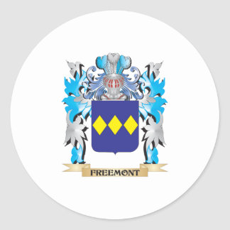 Freemont Coat of Arms - Family Crest Round Sticker