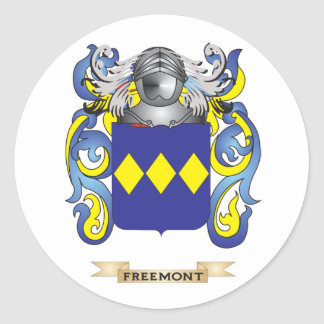 Freemont Coat of Arms Round Stickers
