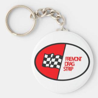 Freemont Drag Strip Basic Round Button Key Ring