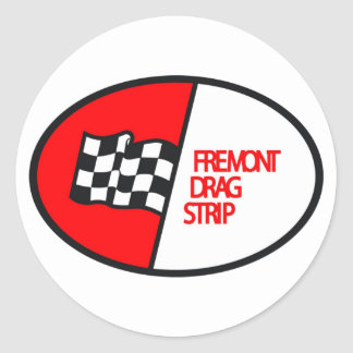 Freemont Drag Strip Round Sticker