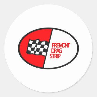 Freemont Drag Strip Round Sticker