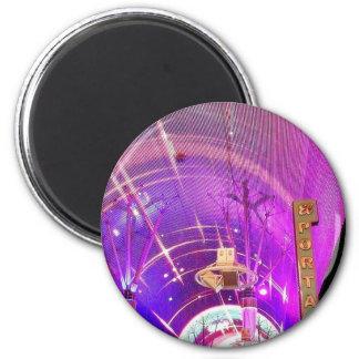 Freemont Street Lights 6 Cm Round Magnet
