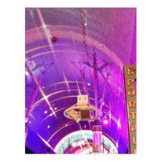 Freemont Street Lights Post Card
