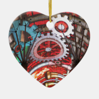 Freemont Street Vegas Las Vegas Gambling Ceramic Heart Decoration