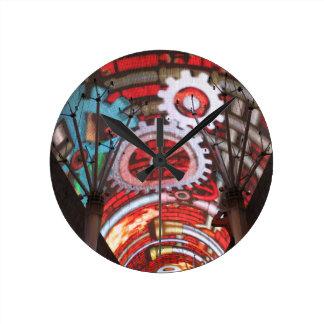 Freemont Street Vegas Las Vegas Gambling Wall Clock
