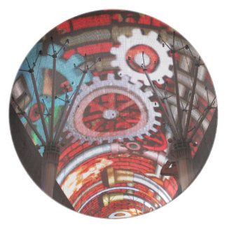 Freemont Street Vegas Las Vegas Gambling Plate