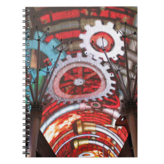 Freemont Street Vegas Las Vegas Gambling Spiral Notebook