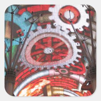 Freemont Street Vegas Las Vegas Gambling Square Sticker