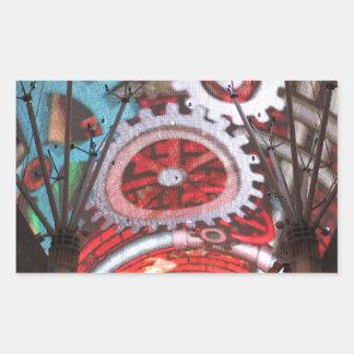 Freemont Street Vegas Las Vegas Gambling Rectangular Sticker