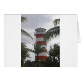 Freeport Bahamas lighthouse Greeting Cards