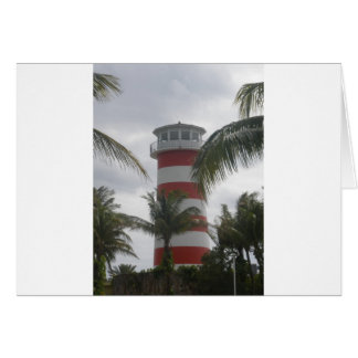 Freeport Bahamas lighthouse Greeting Card