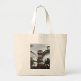 Freeport Bahamas lighthouse Jumbo Tote Bag