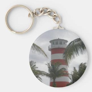 Freeport Bahamas lighthouse Basic Round Button Key Ring