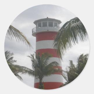 Freeport Bahamas lighthouse Round Sticker