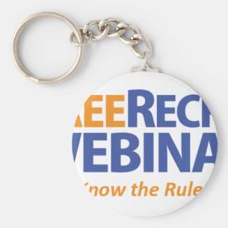 FreeRecruitingWebinar.org Basic Round Button Key Ring