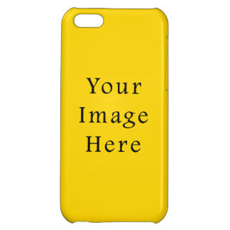 Freesia Bright Yellow Color Trend Blank Template iPhone 5C Cases